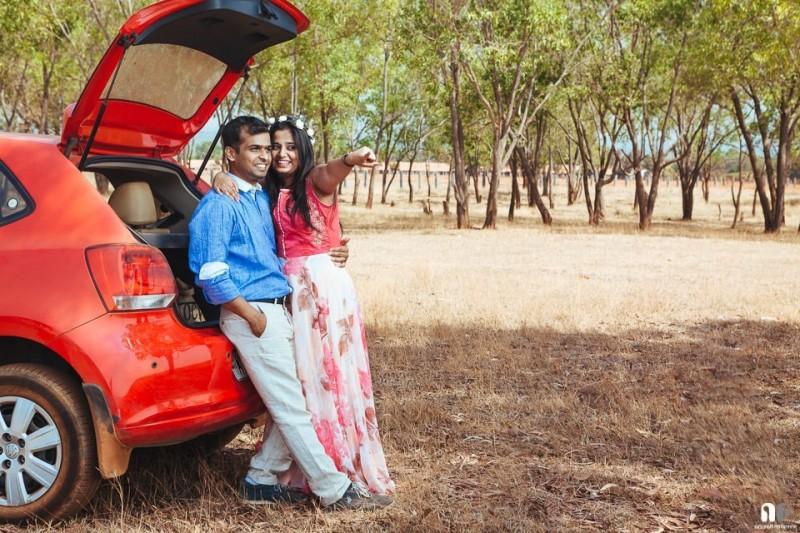 A Prewedding Couple portrait shoot at Hesaraghatta Bangalore