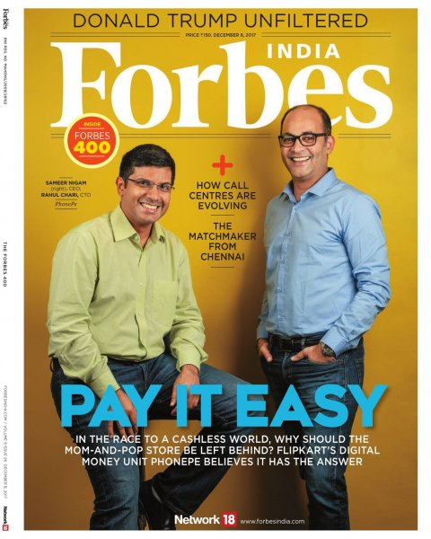 PhonePe Covershot for For Forbes India