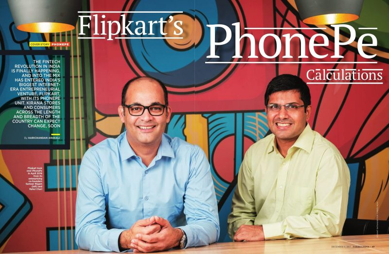 PhonePe coverstory for Forbes.