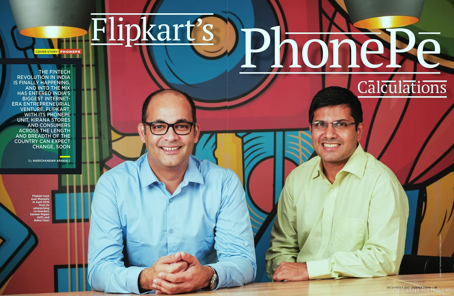 Forbes India Photographer Double Spread PhonePe