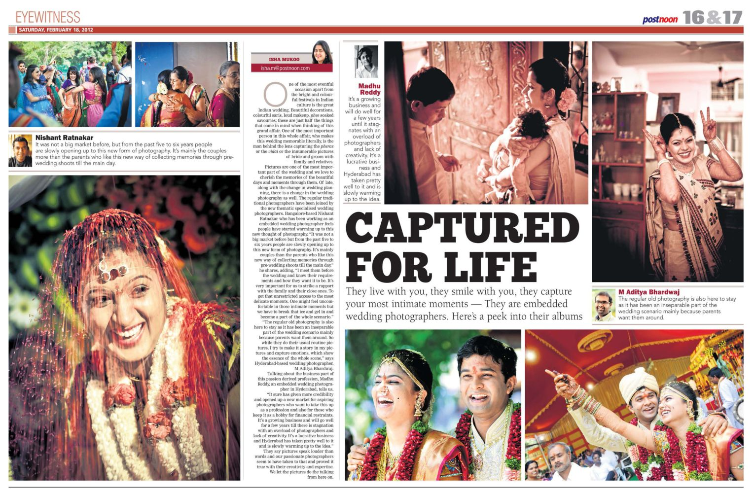 Captured For Life : Article in Postnoon that showcased my Embedded Wedding Photography