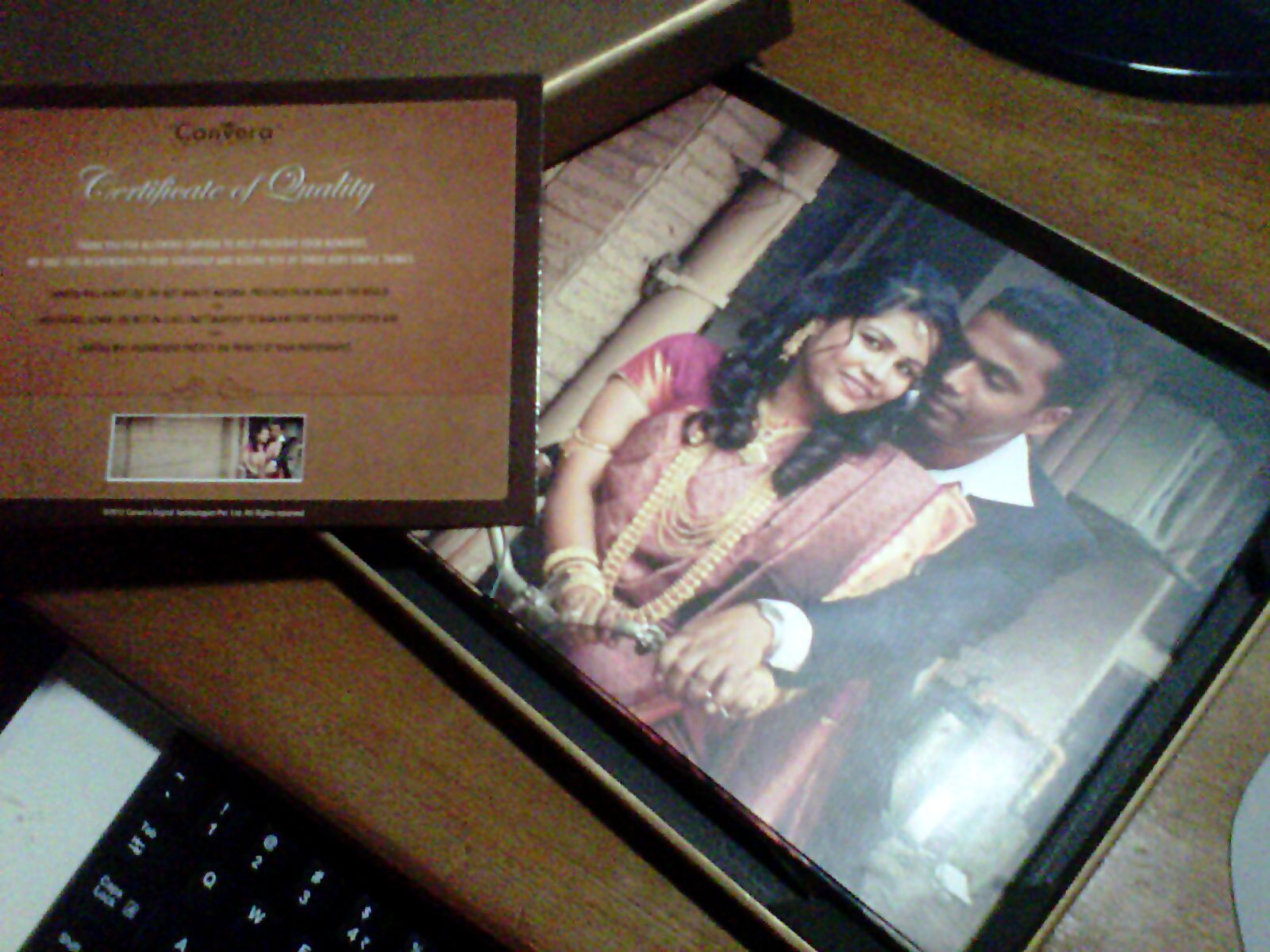 A Coffee table book / Wedding photo Book printed by Canvera