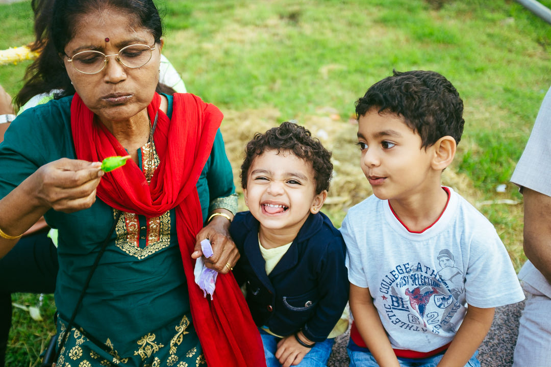 A candid family moment at the Lal Bagh. August 2014.